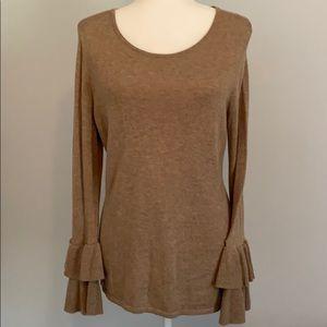 Chico's super soft sweater, ruffled sleeve